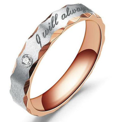 I Will Always Be With You Simple Band Ring - Amazing Steals N Deals