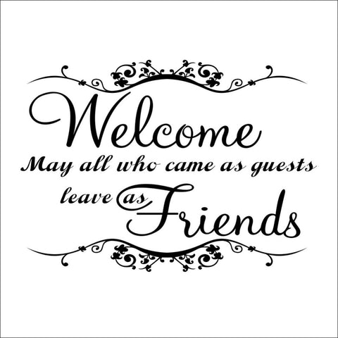 Welcome May All Who Come Quote Wall Decal - Amazing Steals N Deals