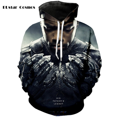 Black Panther 3D Printed Sweat Jacket - Order Larger Size - Amazing Steals N Deals