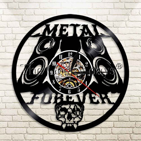 Metal Forever Vinyl Record Wall Clock