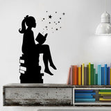 Girl Reading A Book Wall Decal - Amazing Steals N Deals
