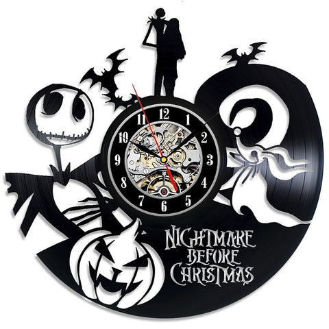 The Nightmare Before Christmas Love Story Vinyl Wall Clock - Amazing Steals N Deals