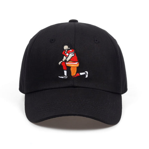 Football Player Embroidery Baseball Cap