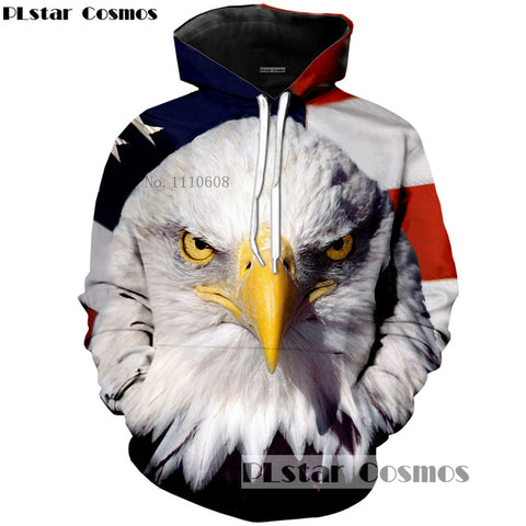 Stars N Stripes with Eagle Hoodie - Order Larger Size - Amazing Steals N Deals
