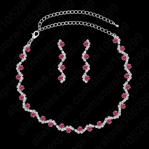 925 Sterling Silver And Pink CZ Jewelry Set - Amazing Steals N Deals