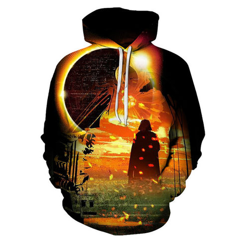Death Star & Darth Vader 3D Printed Hoodie  - Order Larger Size