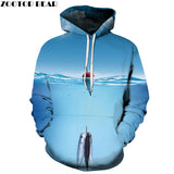 Fishing 360 Printed Hoodie - Order Larger Size - Amazing Steals N Deals