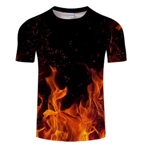 Flame 3D Printed T-Shirt - Order Larger Size - Amazing Steals N Deals