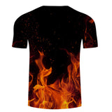 Flame 3D Printed T-Shirt - Order Larger Size