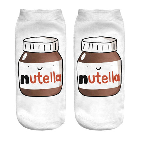 Nutella Graphic Printed Socks