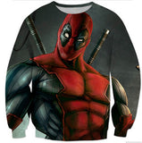 Deadpool 3D Printed Sweatshirt - Order Larger Size - Amazing Steals N Deals