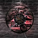 Cyclist Vinyl Record Wall Clock