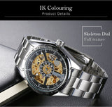 Men Skeleton Automatic Self-Winding Watch - Amazing Steals N Deals