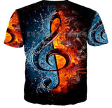 Music Note Or Guitar 3d Printed T Shirt - Order larger Size - Amazing Steals N Deals
