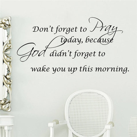 Pray Bible Quote Wall Decal
