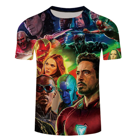 Avengers Infinity War Print T Shirt - Amazing Steals N Deals