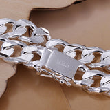 925 Stamp Silver Men's Chain Link Bracelet