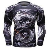 Dragon 3D Compression Shirt -Order Larger Size - Amazing Steals N Deals
