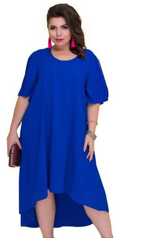Solid Color High Low Maxi Dress - Amazing Steals N Deals