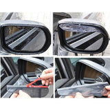 Set of 2 Side Mirror Rain Visor Weather Guards - Amazing Steals N Deals