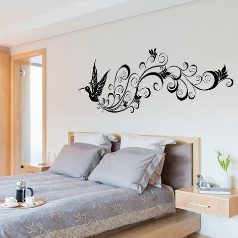 Flying Bird With Decorative Tail Wall Decal - Amazing Steals N Deals