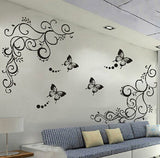 Decorative Vines And Butterflies Wall Decal - Amazing Steals N Deals