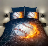 Sport Themed 3D Printed Duvet And Pillowcase Set - Amazing Steals N Deals