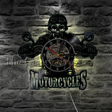 Bikers Vinyl Record Wall Clock In 2 Designs