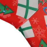 Christmas Bells And Santa Faces Print Leggings - Amazing Steals N Deals