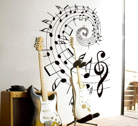 Spiral Of Musical Notes Wall Decal - Amazing Steals N Deals