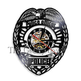 Police Theme Vinyl Record Wall Clock In 4 Designs