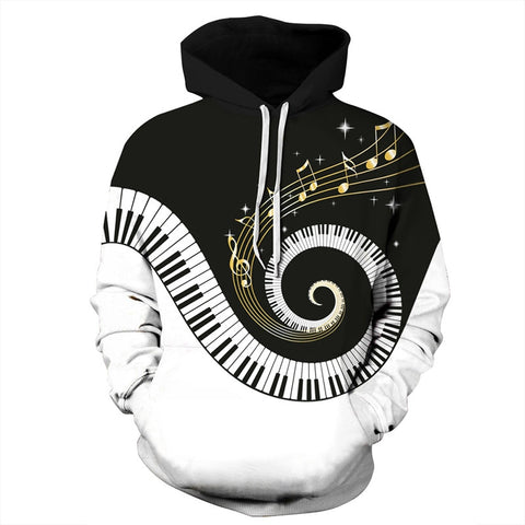 Music Note 3D Printed Hoodie - Order Larger Size