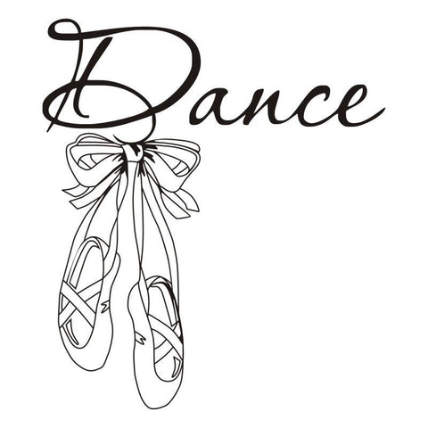 Ballet Shoes Wall Decal - Amazing Steals N Deals