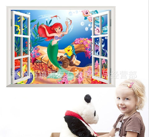 3D Fake Window Ariel Wall Decal - Amazing Steals N Deals