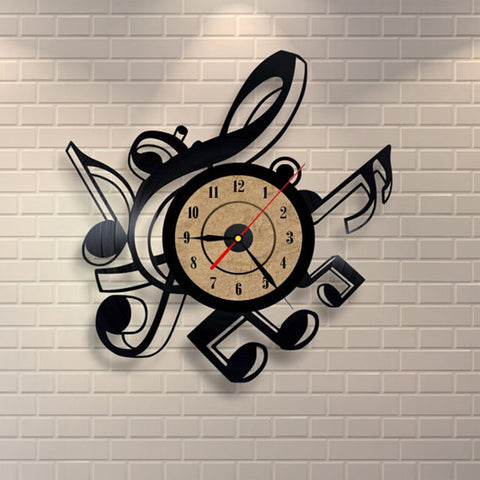 Musical Notes Vinyl Wall Clock