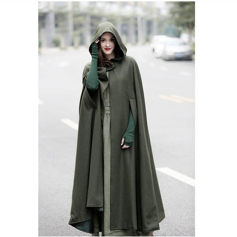 Hooded Long Cloak Trench Cape - Amazing Steals N Deals