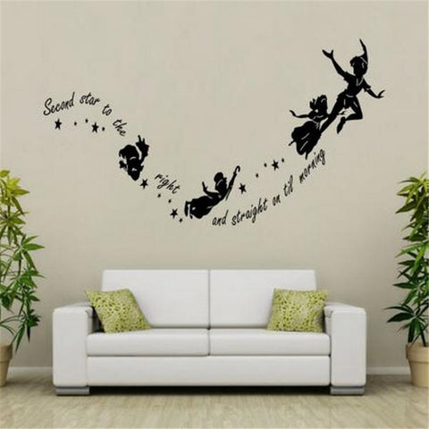 Peter Pan Second Star To The Right Wall Decal