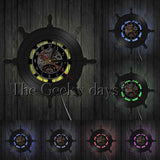Naval Vinyl Record Wall Clock In 4 Designs