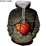 Basketball Breaking A Wall Hoodie - Order Larger Size
