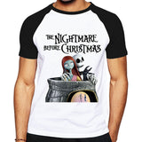 Jack Skellington and Sally Print T-shirt In 3 Designs