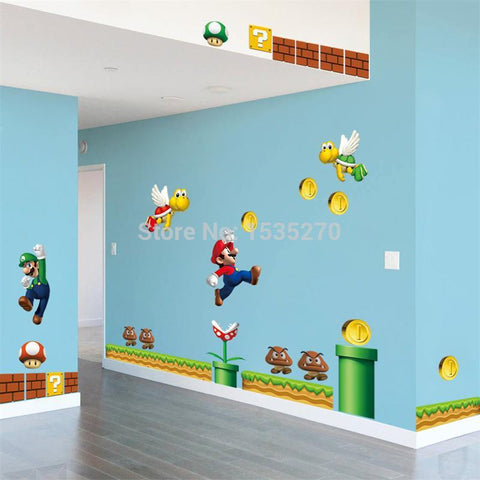 Create A Level Super Mario Wall Decal - Amazing Steals N Deals