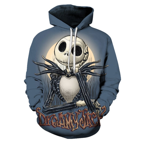 Dreamy Jack Nightmare Before Christmas 3D Printed Hoodie - Order Larger Size - Amazing Steals N Deals