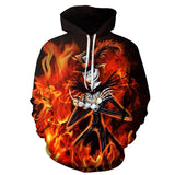 Nightmare Before Christmas Flaming Jack 3D Printed Hoodie - Order Larger Size - Amazing Steals N Deals