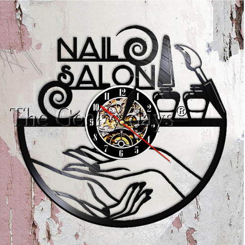 Nail Salon Vinyl Record Wall Clock In 10 Designs