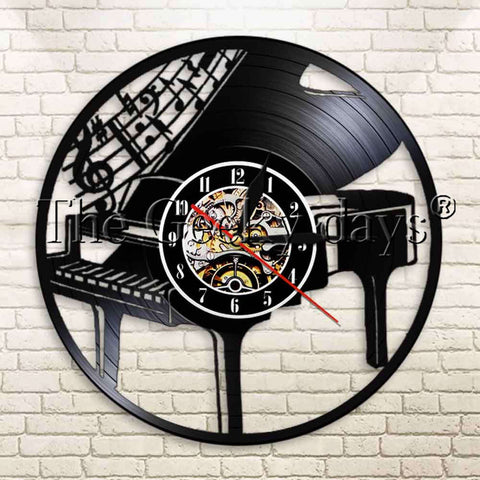 Piano Vinyl Record Wall Clock In 5 Designs