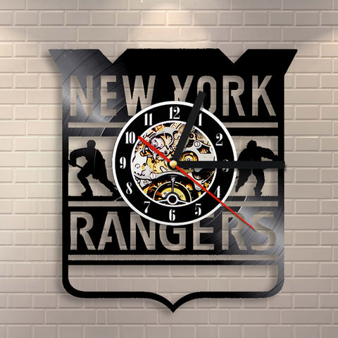 New York Rangers Vinyl Record Wall Clock
