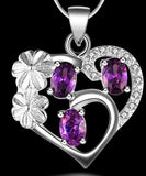 925 Sterling Silver Heart Pendant With CZ Necklace
