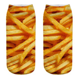 French Fries 3D Printed Socks