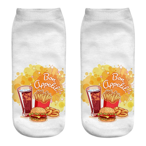 Fast Food 3D Printed Socks