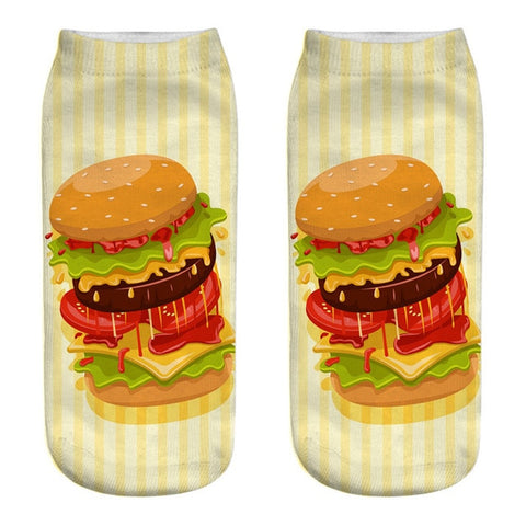 Hamburgers 3D Printed Socks